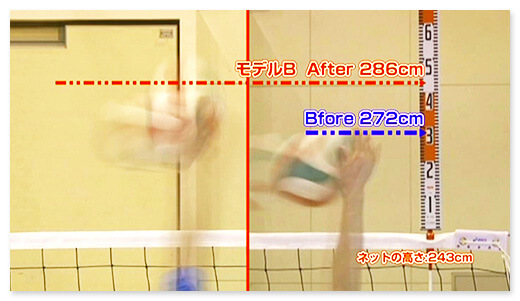 モデルB Before 272cm after 286cm