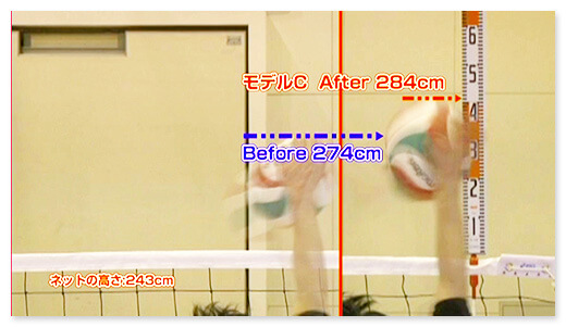 モデルC Before 274cm after 284cm